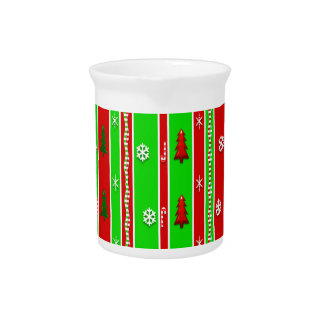 Christmas Paper Pattern Drink Pitcher