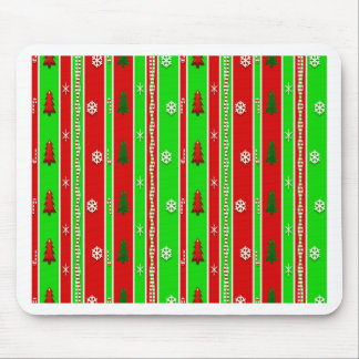 Christmas Paper Pattern Mouse Pad