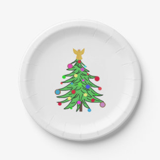 Christmas Paper Plates ChristmasTrees Angels