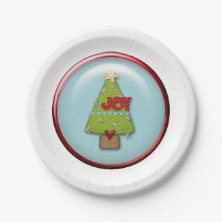 Christmas Paper Plates | Joy Christmas Tree