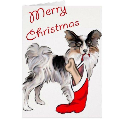 Christmas_Papillon Greeting Card