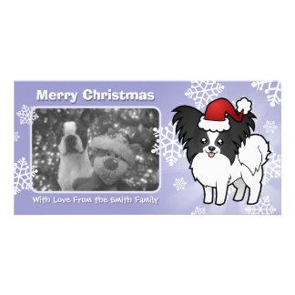Christmas Papillon Photo Cards