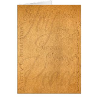 Christmas Parchment Card