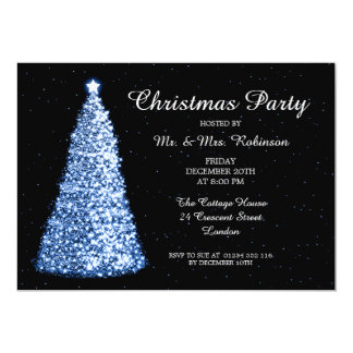 Christmas Party Blue 13 Cm X 18 Cm Invitation Card