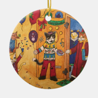 Christmas Party Ceramic Ornament