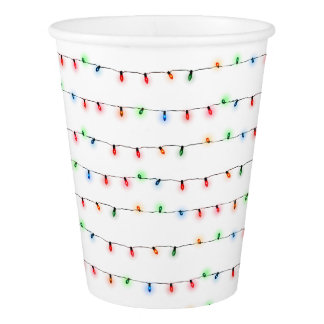 Christmas Party Cups, tiny string lights Paper Cup