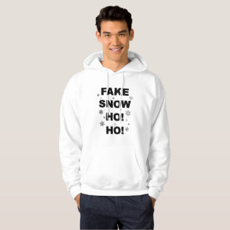 Christmas party, fun wear: Fake Snow Ho! Ho! Hoodie