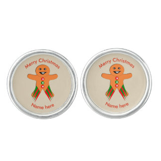 Christmas Party Gingerbread Man Cufflinks