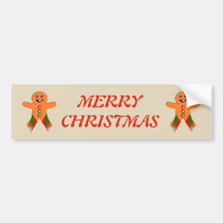 Christmas Party Gingerbread Man Custom Bumper Sticker