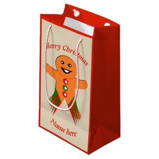 Christmas Party Gingerbread Man Custom Gift Bag