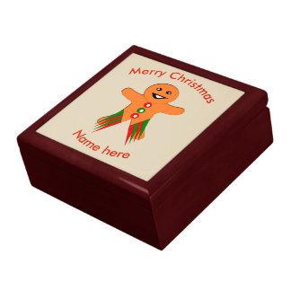 Christmas Party Gingerbread Man Custom Gift Box