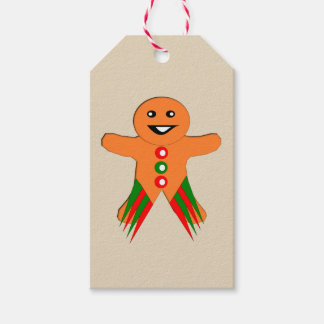 Christmas Party Gingerbread Man Custom Gift Tags