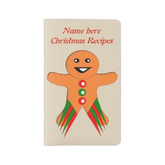 Christmas Party Gingerbread Man Custom Large Moleskine Notebook