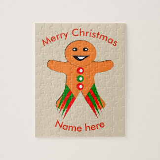 Christmas Party Gingerbread Man Custom Puzzle