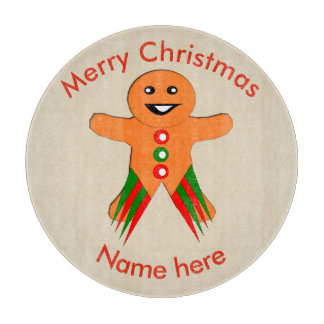 Christmas Party Gingerbread Man Cutting Board