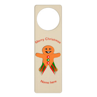 Christmas Party Gingerbread Man Door Hanger