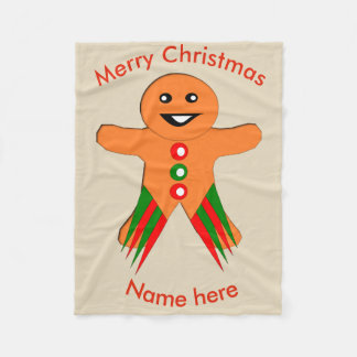 Christmas Party Gingerbread Man Fleece Blanket
