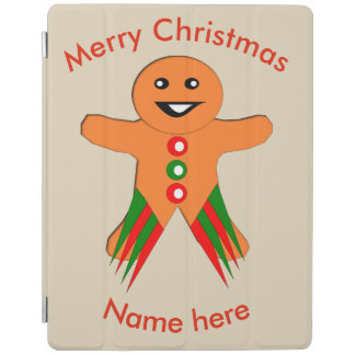 Christmas Party Gingerbread Man iPad Cover