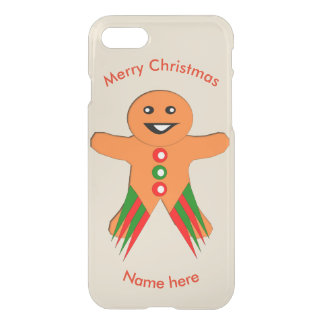 Christmas Party Gingerbread Man iPhone Case