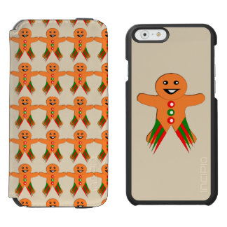 Christmas Party Gingerbread Man iPhone Case Incipio Watson™ iPhone 6 Wallet Case