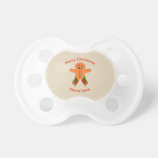 Christmas Party Gingerbread Man Pacifier