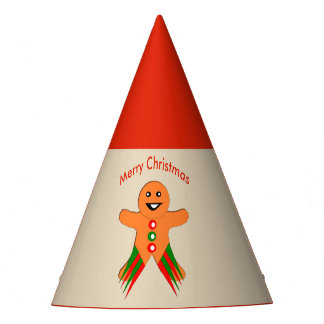 Christmas Party Gingerbread Man Party Hat