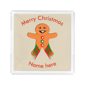 Christmas Party Gingerbread Man Perfume Tray