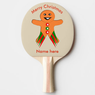 Christmas Party Gingerbread Man Ping Pong Paddle