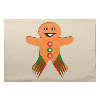 Christmas Party Gingerbread Man Placemat