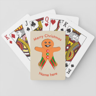 Christmas Party Gingerbread Man Playing cards