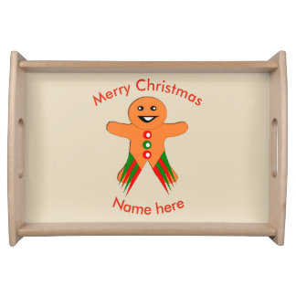 Christmas Party Gingerbread Man Serving Tray