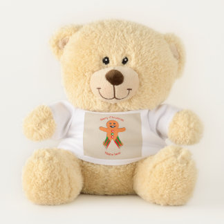Christmas Party Gingerbread Man Teddy Bear