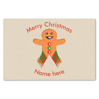 Christmas Party Gingerbread ManTissue Paper
