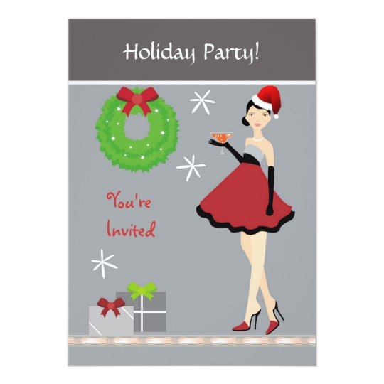 Christmas Party Girl Invitation