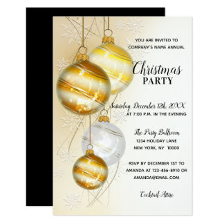 CHRISTMAS PARTY GOLD Corporate Office Company Card