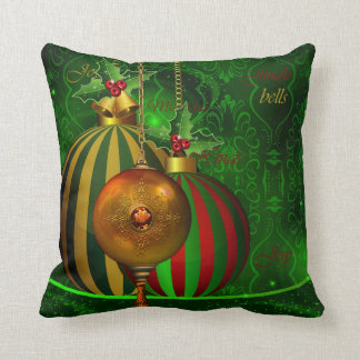 Christmas Party Gold Green Red Xmas Decorations Cushion
