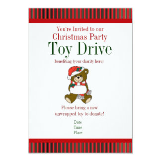 Christmas Party Holiday Toy Drive Invitations