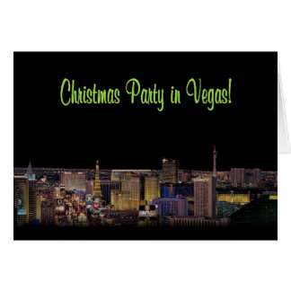 Christmas Party in Vegas! Invitation Card
