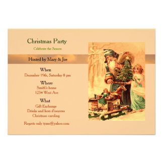 Christmas party personalized announcement