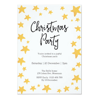Christmas party Invitation | Cute Penguin