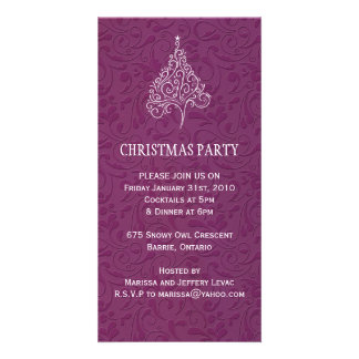 Christmas Party Invitation Photo Cards