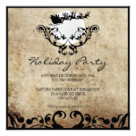 Christmas Party Invitation-Santa and Reindeer