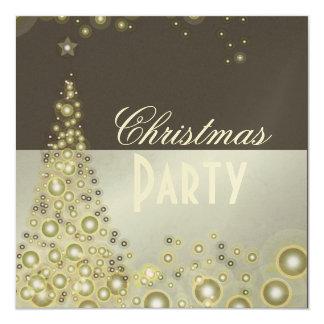 """Christmas Party invitations, champagne bubbles 5.25"""" Square Invitation Card"""