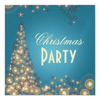 Christmas Party invitations, champagne bubbles 13 Cm X 13 Cm Square Invitation Card
