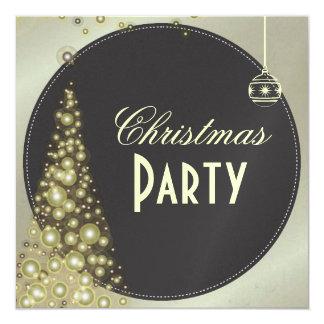 Christmas Party invitations, christmas tree 13 Cm X 13 Cm Square Invitation Card