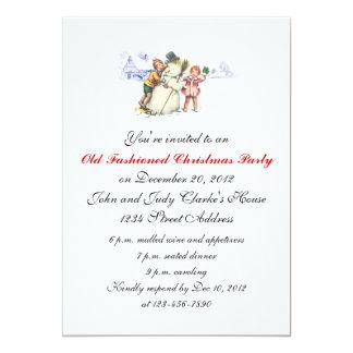 Christmas Party Invitations Vintage Snowman