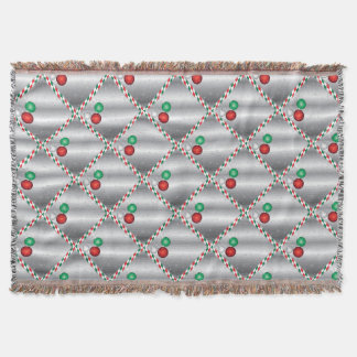 Christmas Party Ornament invitation Throw Blanket