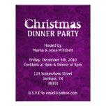 Christmas Party Purple Vintage Invites
