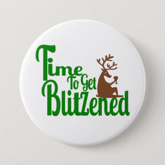 Christmas party reindeer word art fun button