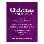 Christmas Party Teal & Purple Vintage Invites